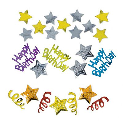 Κομφετί Happy Birthday Stars Foil 34 γρ. Confetti
